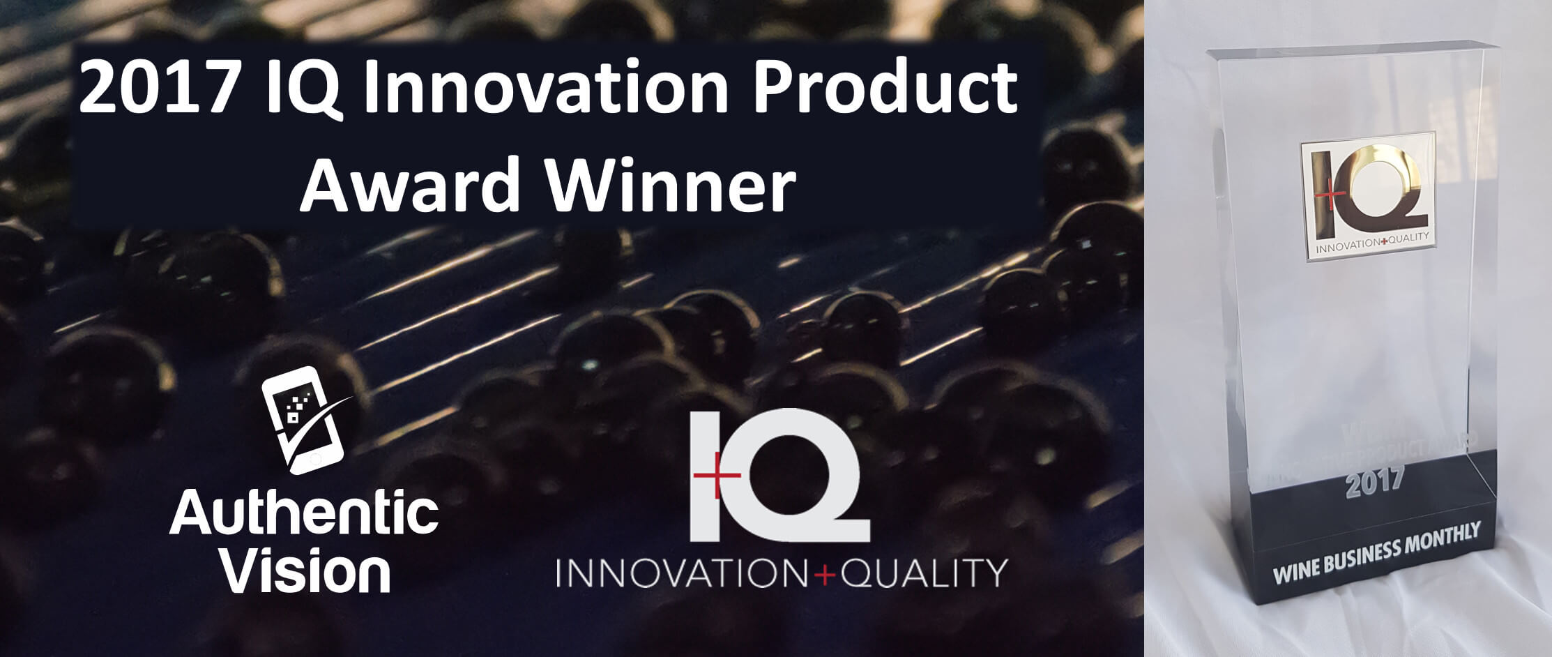 Authentic Vision wins IQ Award anti Counterfeit Innovation
